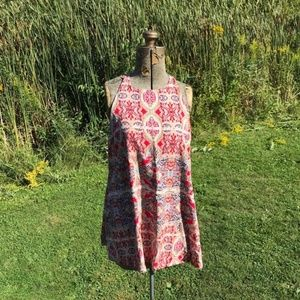 Lulus Regal Red Paisley Tank Top